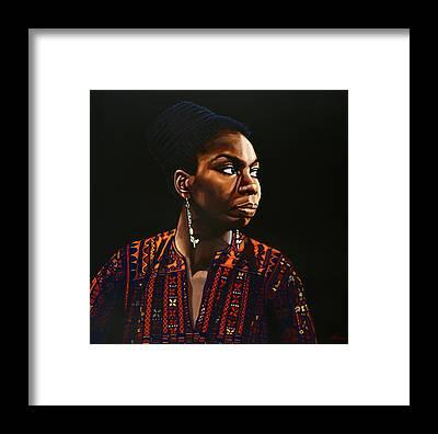Nina Simone Framed Prints