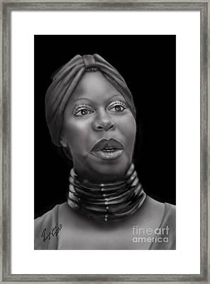 Nina Simone-revolution Framed Print