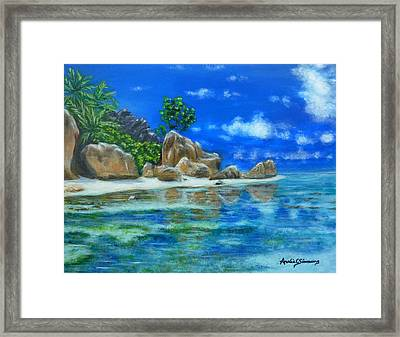Nina's Beach Framed Print
