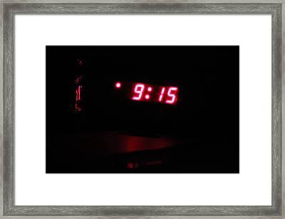 Nine Fifteen In Colour Framed Print by Jimmy Sky