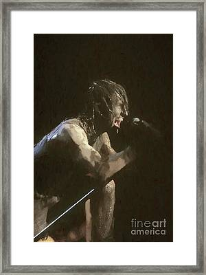 Nine Inch Nails Trent Reznor Painting Framed Print