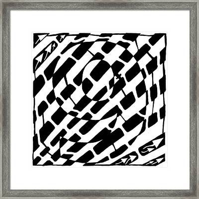 Nine Maze Framed Print by Yonatan Frimer Maze Artist
