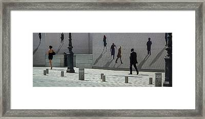 Nine Pedestrians At Place Vendome Framed Print