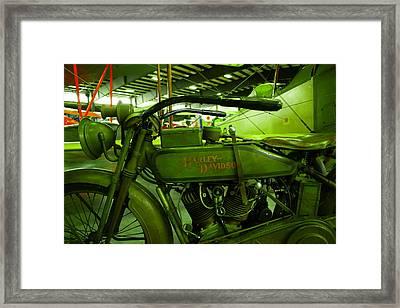 Nineteen Eighteen Harley Davidson Framed Print by Jeff Swan