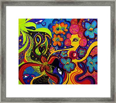 Framed Print featuring the painting Joyful by Marina Petro
