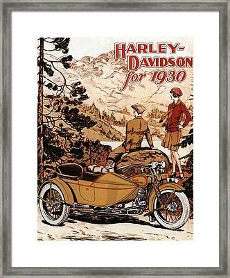 Nineteen Thirties Harley Davidson Framed Print by Pd