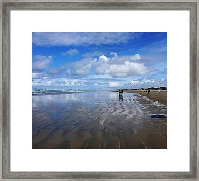 Ninety Mile Beach New Zealand Framed Print by Heidi Fickinger