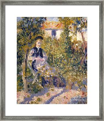 Nini In The Garden, 1876 Framed Print by Pierre Auguste Renoir