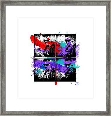 Ninja Graffiti Framed Print by Jera Sky