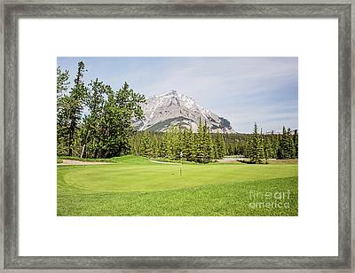 Ninth Green - Banff Springs Golf Course Framed Print