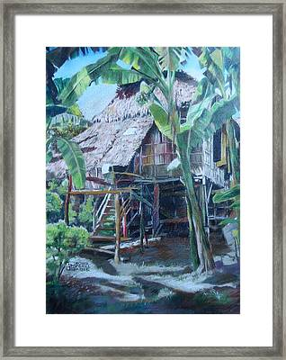 Nipa Hut Framed Print