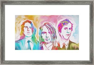 Nirvana Color Splash Framed Print by Dan Sproul