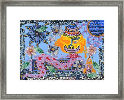 Framed Print featuring the painting Nirvana Equals Absolute Happiness by Peter Gumaer Ogden