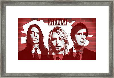 Nirvana Tribute Framed Print by Dan Sproul