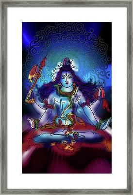 Nirvikalp Samadhi Kapali Shiva Framed Print