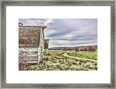 Nisqually Barn Road  Framed Print