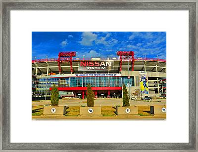 Nissan Stadium Home Of The Tennessee Titans Framed Print
