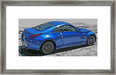 Nissan Z Car Framed Print by Samuel Sheats