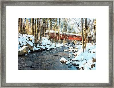 Nissitissit Covered Bridge Framed Print