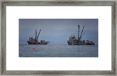 Framed Print featuring the photograph Nita Dawn And Cape George by Randy Hall