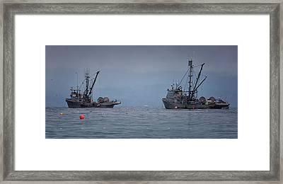 Nita Dawn And Cape George Framed Print by Randy Hall