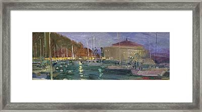 Nite Avalon Harbor - Catalina Island Framed Print