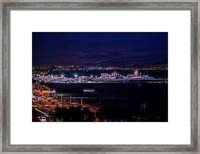 Nite Life On The Pier Framed Print