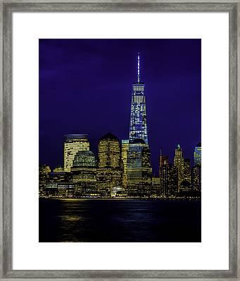 Nitetime Skyline Framed Print