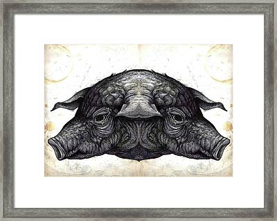 Nixon Pigs Framed Print