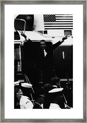 Nixon Presidency.   Former Us President Framed Print