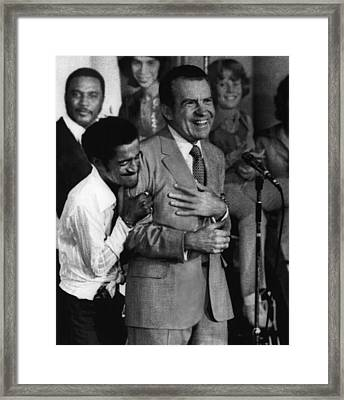 Nixon Presidency.  Sammy Davis Jr Framed Print by Everett