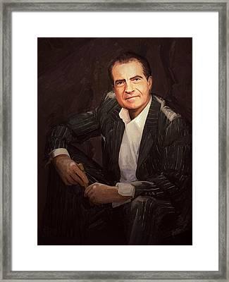 Nixon Relax Framed Print