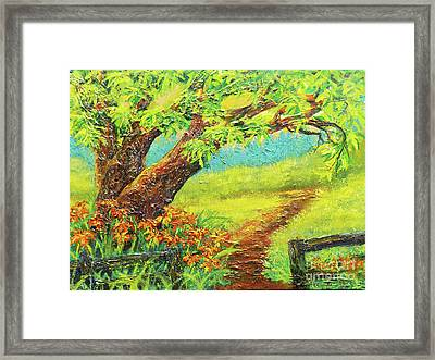 Nixon's A Fence Side View Of Old Rapidan Road Framed Print