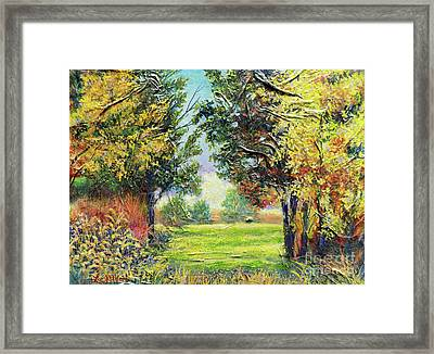 Framed Print featuring the painting Nixon's A Tranquil Morning View by Lee Nixon
