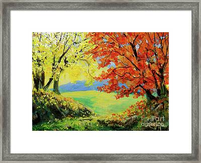 Nixon's Colorful View Of The Blue Ridge Framed Print