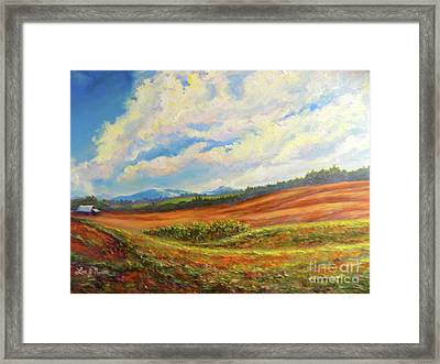 Nixon's Converging On The Farm Framed Print