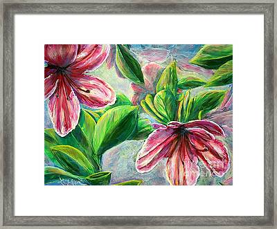 Framed Print featuring the painting Nixon's Cool Sensations Of Spring by Lee Nixon