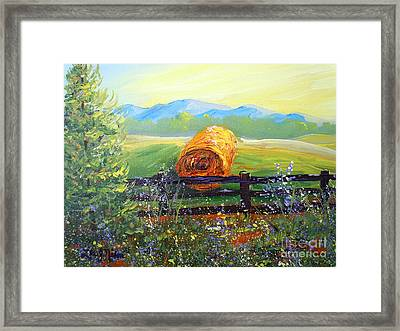 Nixon's Farm View Of Paradise Framed Print