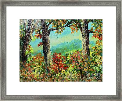 Framed Print featuring the painting Nixon's Glorious Colors Of Fall by Lee Nixon