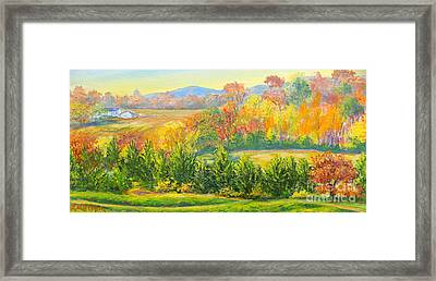 Framed Print featuring the painting Nixon's Glorious View Of Autumn by Lee Nixon