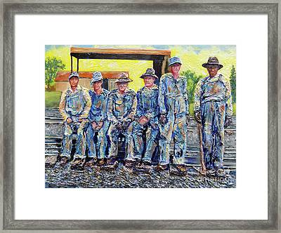 Nixon's Keepers Of The Railroad Framed Print by Lee Nixon
