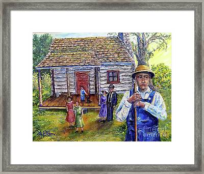 Nixon's The House That George Built - Gilmore House At Montpelier Framed Print