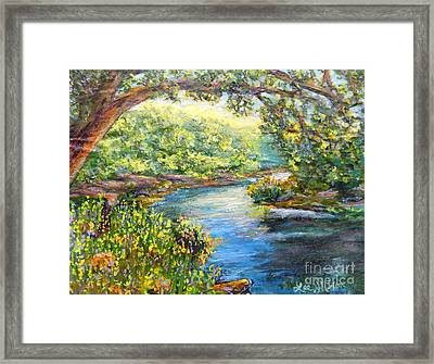 Framed Print featuring the painting Nixon's View Of The Rapidan by Lee Nixon