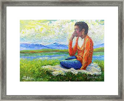 Framed Print featuring the painting Nixon's Youth Contemplating The Future by Lee Nixon