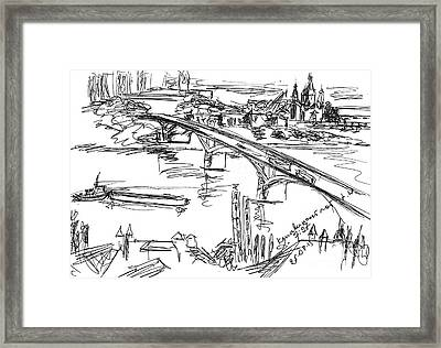 Nizhny Novgorod, Russia, Kanavinsky Bridge. 25 August, 2015 Framed Print