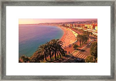 Nizza By The Sea Framed Print by Monique Wegmueller