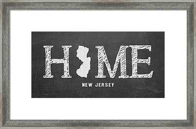 Framed Print featuring the mixed media Nj Home by Nancy Ingersoll
