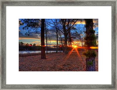 Sunset In New Jersey Framed Print by Kevin Hill