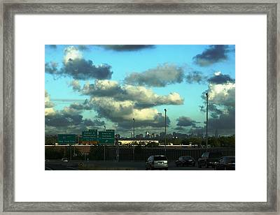 Nj To New York  Framed Print by Paul SEQUENCE Ferguson             sequence dot net