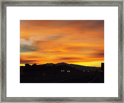 Nm Sunrise Framed Print by Adam Cornelison